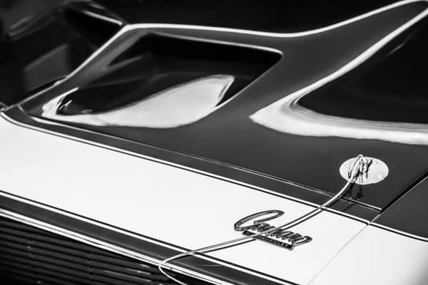 Photograph - 1968 Chevrolet Yenko Super Camaro Hood Emblem -1767bw by Jill Reger