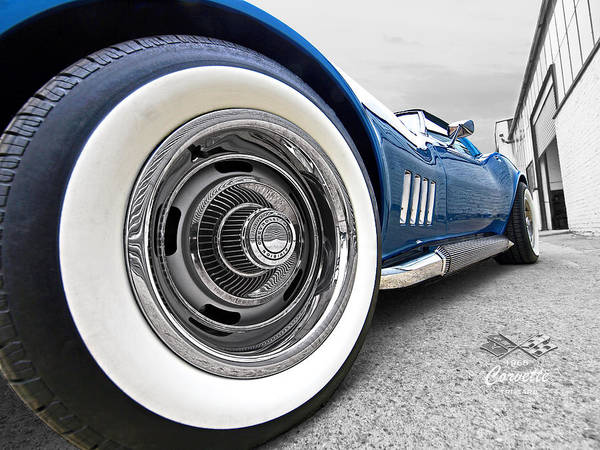 Photograph - 1968 Corvette White Wall Tires by Gill Billington