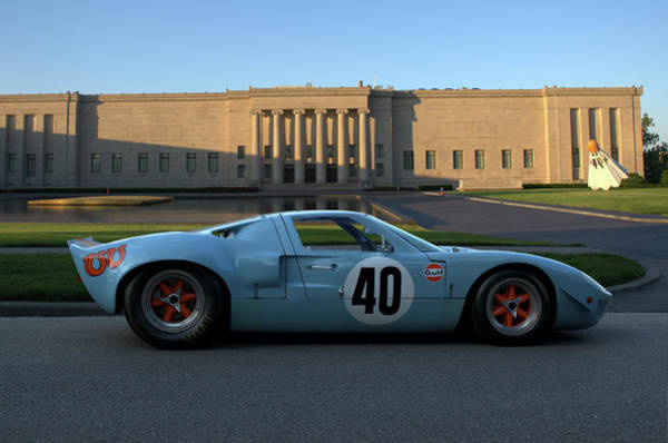 Photograph - 1968 Ford Gt40 Gulf Miarage Coupe by Tim McCullough