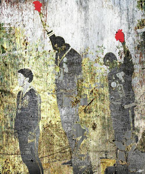 Decorating Mixed Media - 1968 Olympics Black Power Salute by Tony Rubino