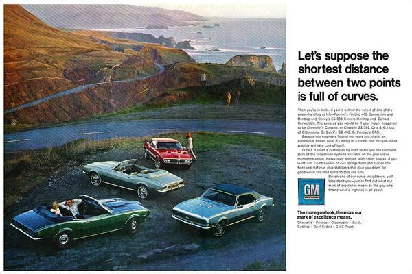A To Z Digital Art - 1968 Pontiac Firebird And Chevrolet Camaro Ss by Digital Repro Depot