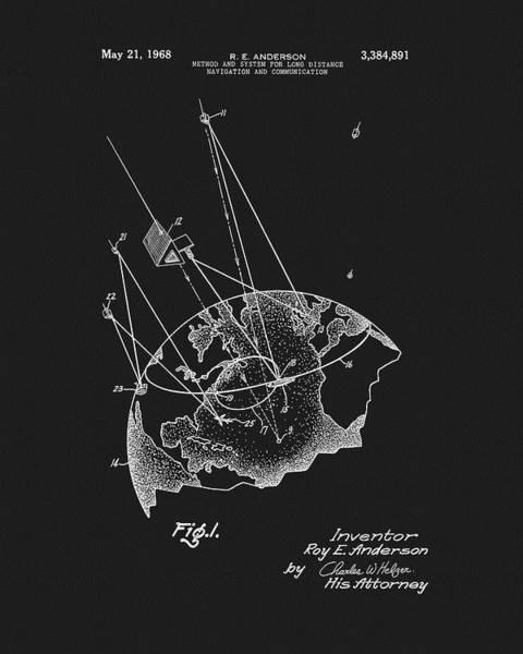Technology Mixed Media - 1968 Satellite Communication Patent by Dan Sproul
