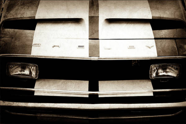 Wall Art - Photograph - 1968 Shelby Gt500 Fastback Grille Emblem -1082s by Jill Reger