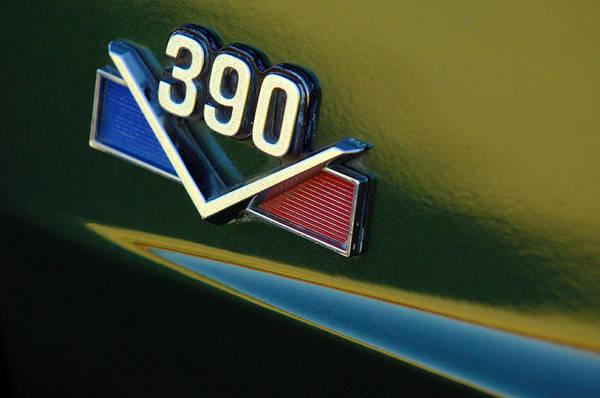 Photograph - 1969 Amx 390 American Motors Emblem by Jill Reger