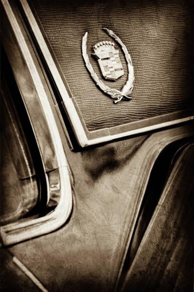 Eldorado Photograph - 1969 Cadillac Eldorado Emblem -0275s by Jill Reger