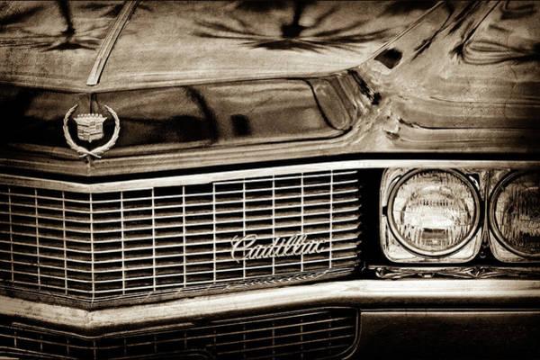 Eldorado Photograph - 1969 Cadillac Eldorado Grille Emblem -0270s by Jill Reger