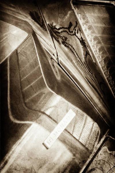 Wall Art - Photograph - 1969 Cadillac Eldorado Taillight Emblem -0285s by Jill Reger