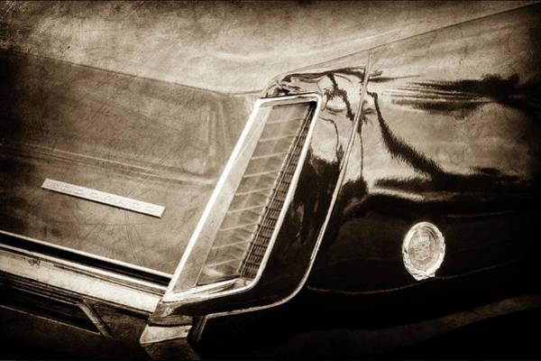 Eldorado Photograph - 1969 Cadillac Eldorado Taillight Emblem -0318s by Jill Reger