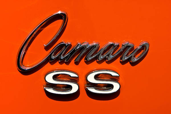 Photograph - 1969 Camaro Ss Badge by  Onyonet  Photo Studios