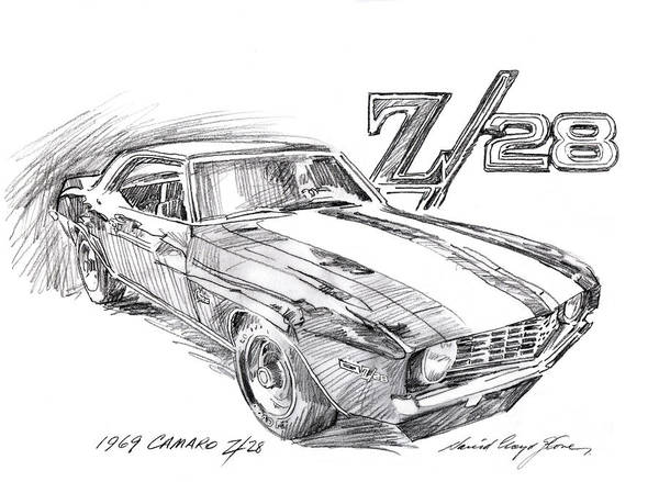 Painting - 1969 Camaro Z/28  by David Lloyd Glover