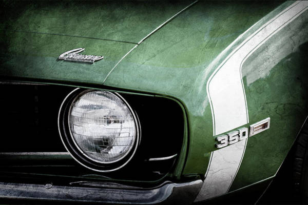 Photograph - 1969 Chevrolet Camaro Ss Headlight Emblems -1320ac by Jill Reger