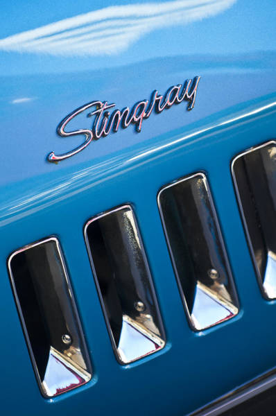 Photograph - 1969 Chevrolet Corvette Stingray Emblem by Jill Reger