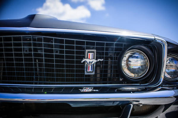 Photograph - 1969 Ford Mustang Grille Emblem -0129c by Jill Reger