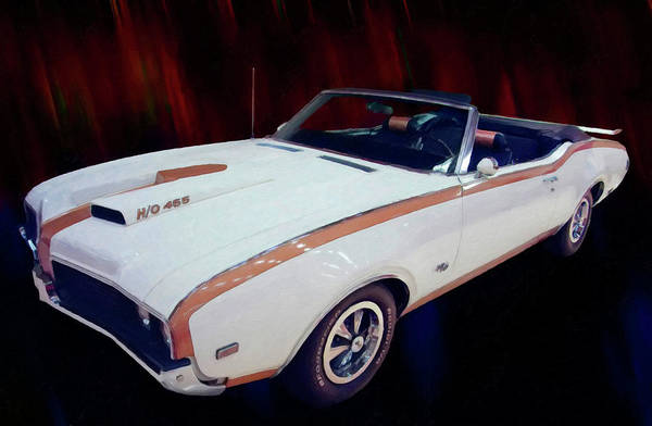 Painting - 1969 Oldsmobile Hurst 455 Convertible Digital Oil by Chris Flees
