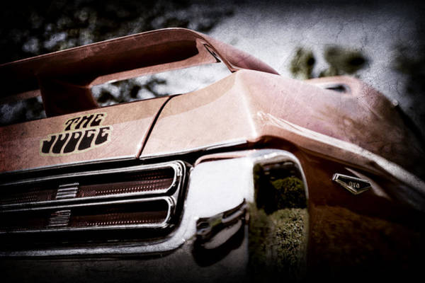 Wall Art - Photograph - 1969 Pontiac Gto Judge Tail Light Emblem -0285ac by Jill Reger