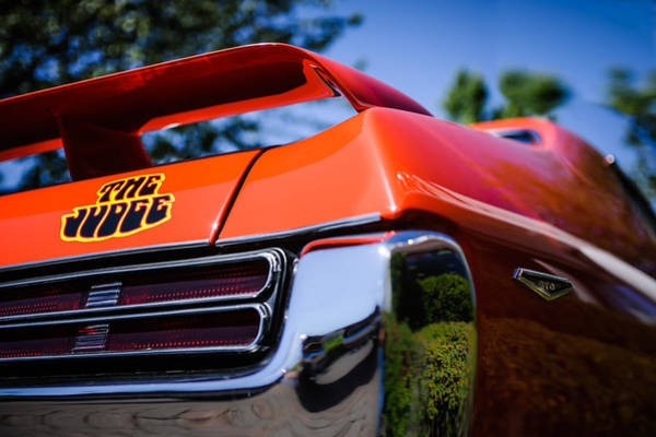 Wall Art - Photograph - 1969 Pontiac Gto Judge Taillight Emblem -0285c by Jill Reger