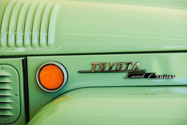 Photograph - 1969 Toyota Fj-40 Land Cruiser Emblem -0441c by Jill Reger