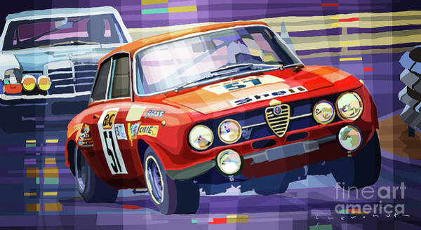 Wall Art - Mixed Media - 1970 Alfa Romeo Giulia Gt by Yuriy Shevchuk