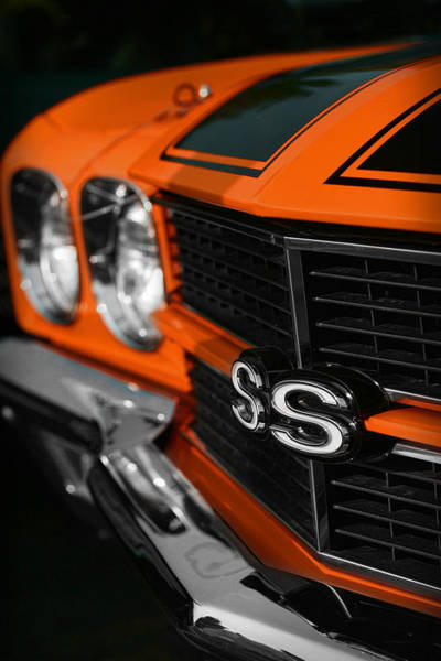 Clear Coat Wall Art - Photograph - 1970 Chevelle Ss396 Ss 396 Orange by Gordon Dean II