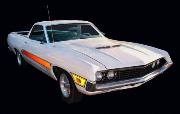Painting - 1970 Ford Ranchero Gt Cobra Jet 429 Digital Oil by Chris Flees