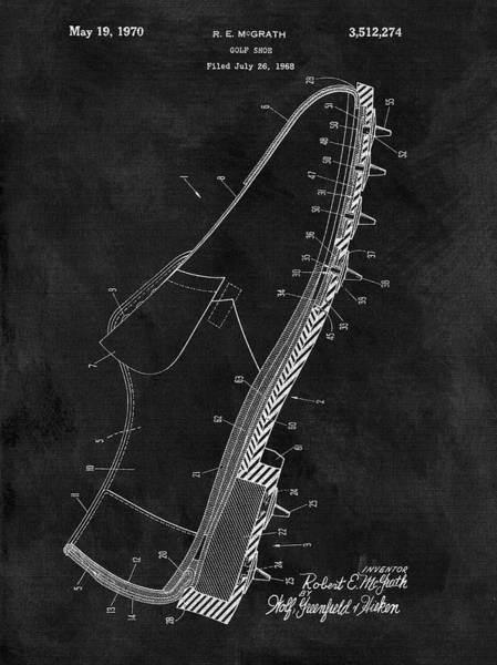 Wall Art - Drawing - 1970 Golf Shoe  by Dan Sproul