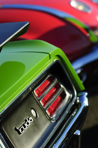 Photograph - 1970 Plymouth Barracuda Cuda Taillight Emblem by Jill Reger