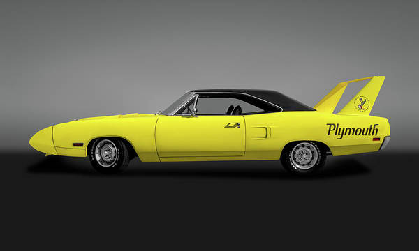 Plymouth Superbird Photograph - 1970 Plymouth Road Runner Superbird 440   - 1970roadrunnersuperbirdgry173546 by Frank J Benz