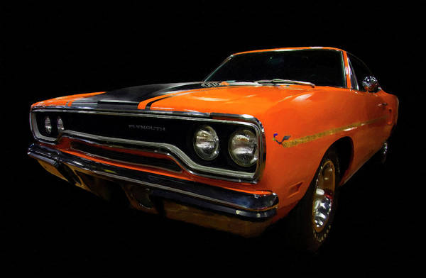 Roadrunner Painting - 1970 Plymouth Roadrunner 440 Six Pack Diagital Art by Chris Flees