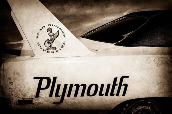 Plymouth Superbird Photograph - 1970 Plymouth Superbird Emblem -0520s by Jill Reger