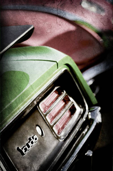 Wall Art - Photograph - 1970 Pontiac Barracuda Cuda Taillight Emblem -1880ac by Jill Reger
