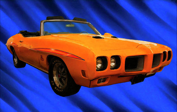Painting - 1970 Pontiac Gto Judge  Digital Oil by Chris Flees