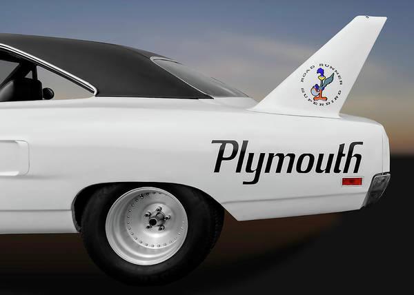 Plymouth Superbird Photograph - 1970 Road Runner Superbird Wing Detail  -  1970superbirdwingdetail170243 by Frank J Benz