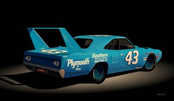 Richard Digital Art - 1970 Superbird Richard Petty by John Wills