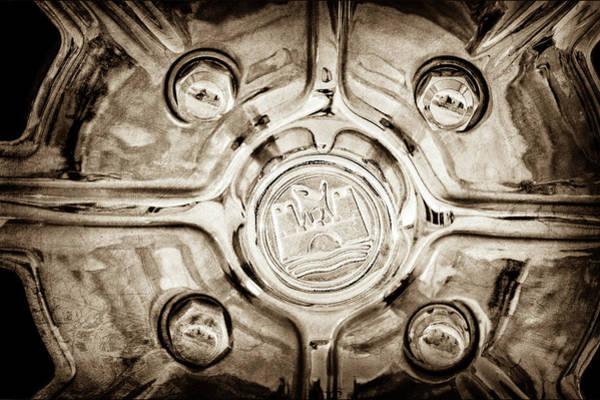 Wall Art - Photograph - 1970 Volkswagen Vw Karmann Ghia Wheel -0475s by Jill Reger