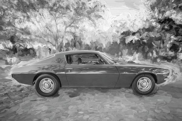 Photograph - 1971 Chevrolet Camaro Bw C127 by Rich Franco