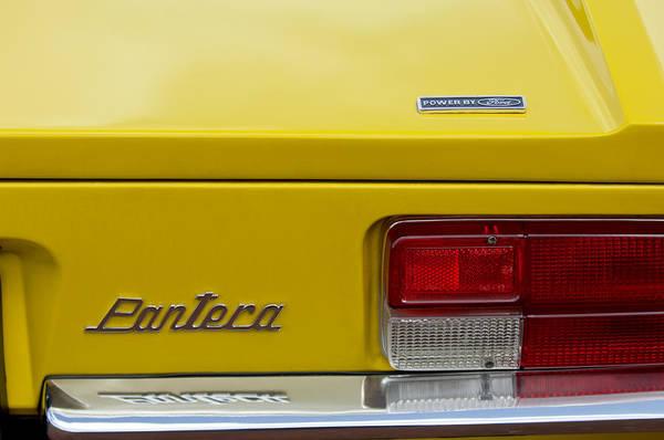 Taillight Photograph - 1971 Detomaso Pantera Taillight Emblem by Jill Reger