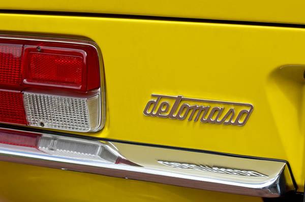 Taillight Photograph - 1971 Detomaso Pantera Taillight by Jill Reger