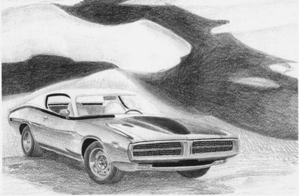 Super Car Mixed Media - 1971 Dodge Charger Super Bee Muscle Car Art Print by Stephen Rooks