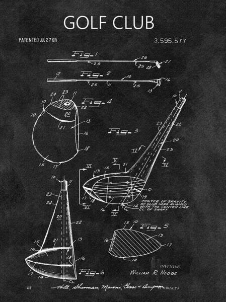 Wall Art - Drawing - 1971 Golf Club Blueprint Illustration by Dan Sproul