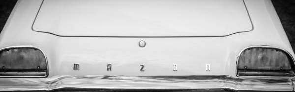 Wall Art - Photograph - 1971 Mazda Cosmo Taillight Emblem -0733bw by Jill Reger