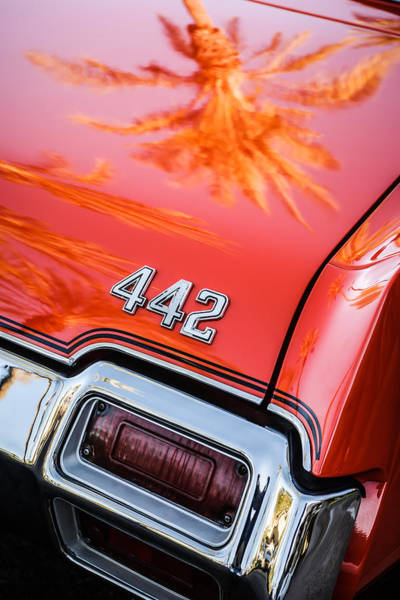 Oldsmobile 442 Wall Art - Photograph - 1971 Oldsmobile 442 Convertible Taillight Emblem -0445c by Jill Reger