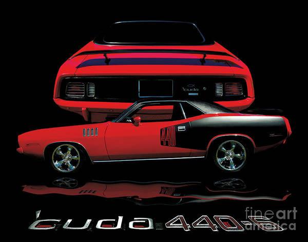Street Rods Photograph - 1971 Plymouth Cuda 440 Six Pack    by Peter Piatt
