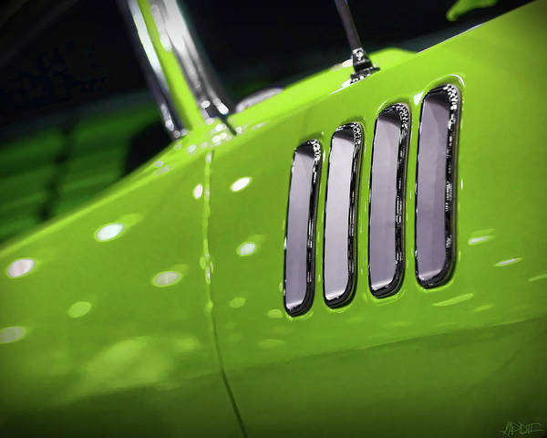 426 Photograph - 1971 Plymouth 'cuda Fender Gills by Gordon Dean II