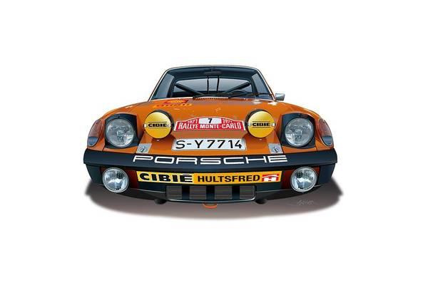 Wall Art - Drawing - 1971 Porsche 914-6 by Alain Jamar