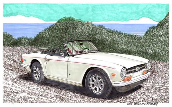 Tr Painting - 1971 Triumph T R 6 by Jack Pumphrey