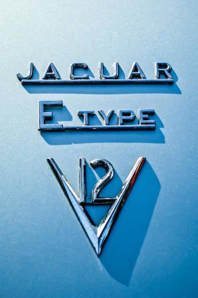 Photograph - 1972 Jaguar E-type V12 Roadster Emblem by Jill Reger