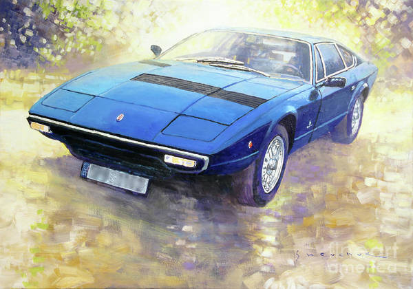 Wall Art - Painting - 1972 Maserati Khamsin  by Yuriy Shevchuk