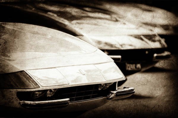 Wall Art - Photograph - 1973 Ferrari 365 Gtb-4 -0786s by Jill Reger