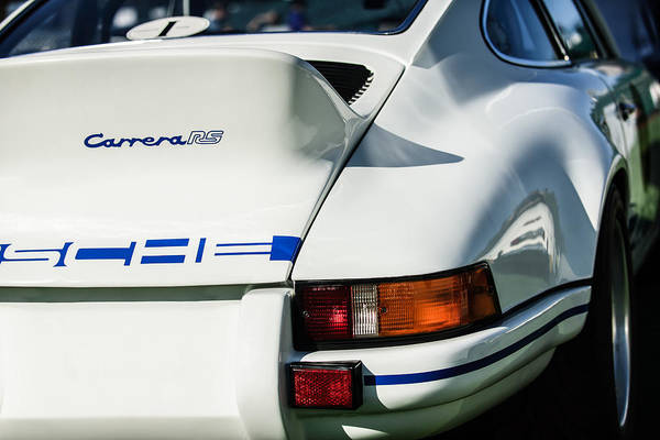 Photograph - 1973 Porsche 911 Rs Carrera Taillight -1410c by Jill Reger