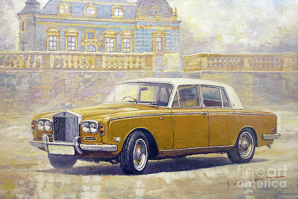 Wall Art - Painting - 1973 Rolls-royce Silver Shadow by Yuriy Shevchuk